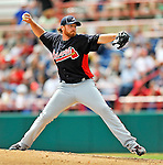 6 March 2011: Atlanta Braves' pitcher Tommy Hanson on the mound during a Spring Training game against the Washington Nationals at Space Coast Stadium in Viera, Florida. The Braves shut out the Nationals 5-0 in Grapefruit League action. Mandatory Credit: Ed Wolfstein Photo