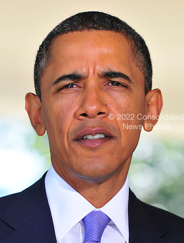 United States President Barack Obama makes a statement on the killings in the West Bank after meeting Prime Minister Benjamin Netanyahu of Israel in the Oval Office of the White House in Washington, D.C. on Wednesday, September 1, 2010. .Credit: Ron Sachs / Pool via CNP