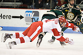 Alex Chiasson (BU - 9) - The visiting University of Vermont Catamounts tied the Boston University Terriers 3-3 in the opening game of their weekend series at Agganis Arena in Boston, Massachusetts, on Friday, February 25, 2011.