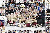 """2012 National Champion Boston College Eagles - """"frame"""" includes images of every player, coach, student manager as well as Bert Lenz, John Hegarty, Tom Peters and Tim Clark."""
