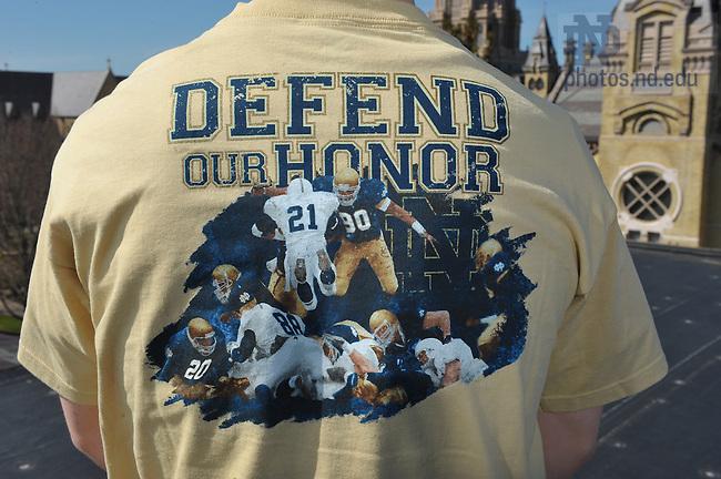 """The Shirt"" 2009..Photo by Matt Cashore/University of Notre Dame"