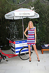 Model Dana Jones Wearing Exclusive Dress Designs Trina Turk Attends Chandon Kicks Off The Seasons With A Fabulous, Exclusive American Summer Soirée on The Beach at the Dream Downtown