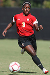 04 October 2009: Maryland's Jasmyne Spencer. The University of Maryland Terrapins defeated the Duke University Blue Devils 4-0 at Koskinen Stadium in Durham, North Carolina in an NCAA Division I Women's college soccer game.