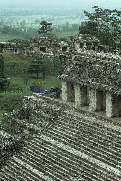 Mayan ruins at Palenque, Chiapas, Mexico.
