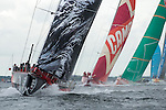 Puma leads, CAMPER with Emirates Team New Zealand, Groupama and Sanya. In Port Race Galway Ireland. Volvo Ocean Race 2011-2012. 7/7/2012