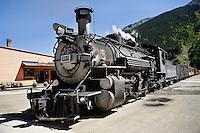 Durango-Silverton Train after arrival in Silverton, Colorado