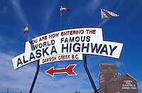 Mile 0 Milepost of Alaska Highway, Dawson Creek, British Columbia, Canada