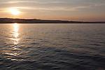 Lake Michigan summer sunset, seen from Open Space Park, Traverse City, Michigan, MI, USA