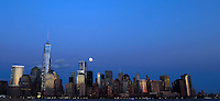 The full moon rises over New York City. March 15, 2014. Photo by Eduardo Munoz Alvarez/VIEW