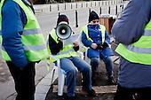 WARSAW, POLAND, December 24, 2016<br /> Anti-government demonstrators spending time on the street by the Sejm, Polish parliament, which is occupied by the opposition MP's since December 17.<br /> The opposition objects to government plans to ban most of journalists from  covering parliamentary proceedings. The opposition MP's protest delayed a budget 2017 vote, which was later held away from the main parliament chamber and is now considered unlawful, which sparks further protest. The standoff has started December 17 and is bound to continue until the next parliamentary session scheduled for January 11.<br /> (Photo by Piotr Malecki / Napo Images)<br /> ****<br /> WARSZAWA, 24.12.2016. <br /> Czlonkowie grupy popierajacej poslow opozycji ktorzy okupuja sejm, przed sejmem. Poslowie opozycji z partii PO i Nowoczesna pozostaja w sali planarnej Sejmu,  nie opuszczajac jej od 17/12 i planuja pozostanie do nastepnego posiedzenia 11 stycznia. Jest to dzialanie w obronie wolnosci mediow i przeciwko uchwaleniu budzetu przez partie rzadzaca w innej sali, bez obecnosci poslow opozycji. <br /> Fot. Piotr Malecki / Napo Images<br /> <br /> ###ZDJECIE MOZE BYC UZYTE W KONTEKSCIE NIEOBRAZAJACYM OSOB PRZEDSTAWIONYCH NA FOTOGRAFII### ###