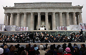 """Washington, DC - January 18, 2009 -- United States President-elect Barack Obama at the """"We Are One"""" Opening Inaugural Celebration at the Lincoln Memorial, Sunday, January 18, 2009..Credit: Doug Mills - Pool via CNP"""