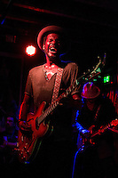 Austin guitar maestro Gary Clark Jr performing at an intimate live show at Cherry Bar, Melbourne, 26 September 2012