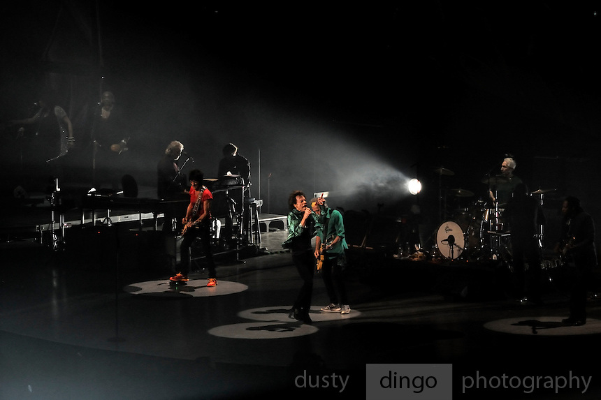The Rolling Stones on stage. 14 on Fire tour, Perth, Western Australia