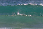 Empty waves at Porthcurno beach, Cornwall.