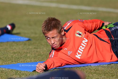 Keisuke Honda (JPN), .OCTOBER 14, 2012 - Football /Soccer : .Japan national team training .at Akademia Wychowania Fizycznego We Wroclawiu, .Wroclaw, Poland. .(Photo by YUTAKA/AFLO SPORT) [1040]