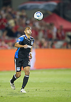 27 August 2011: San Jose Earthquakes midfielder Leandre Griffit #21in action during a game between the San Jose Earthquakes and Toronto FC at BMO Field in Toronto..The game ended in a 1-1 draw.