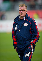22 May 2010: New England head coach Steve Nicol during the warm-up in a game between the New England Revolution and Toronto FC at BMO Field in Toronto..Toronto FC won 1-0.....