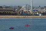Kayaks and Beach Boardwalk