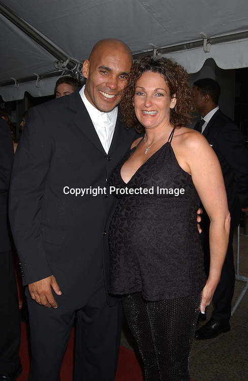 Real Andrews & wife Michele                                ..arriving at Radio City Music Hall for The Daytime Emmy Awards on May 16,2003 ..Photo by Robin Platzer, Twin Images