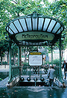 Hector Guimard: Metro Station at Place Des Abbesses. Paris