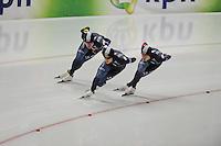 SPEED SKATING: INZELL: 04-12-2015, Max Aicher Arena, ISU World Cup, Team Pursuit Men, Team KOR, ©foto Martin de Jong