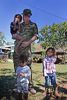 Prince Harry during a visit to the Wuggubun community - Australia