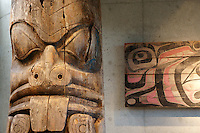 Haida totem pole, Museum of Anthropology (MOA), Vancouver, BC, Canada
