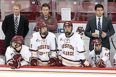 Greg Brown (BC - Associate Head Coach), Mike Booth (BC - 12), Brian Hurley (BC - Student Manager), Zach Walker (BC - 14), Graham McPhee (BC - 27), Mike Ayers (BC - Assistant Coach), Matthew Gaudreau (BC - 21) - The Boston College Eagles defeated the visiting Providence College Friars 3-1 on Friday, October 28, 2016, at Kelley Rink in Conte Forum in Chestnut Hill, Massachusetts.The Boston College Eagles defeated the visiting Providence College Friars 3-1 on Friday, October 28, 2016, at Kelley Rink in Conte Forum in Chestnut Hill, Massachusetts.