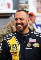 Feb 26, 2017; Chandler, AZ, USA; NHRA top fuel driver Tony Schumacher during the Arizona Nationals at Wild Horse Pass Motorsports Park. Mandatory Credit: Mark J. Rebilas-USA TODAY Sports