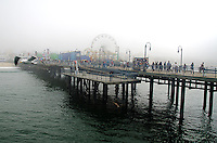 The marine layer rolls in. (Santa Monica Pier ~ Tuesday, March 12, 2013)