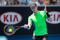 Andy Murray (GBR)<br /> <br /> Tennis - Australian Open 2015 - Grand Slam -  Melbourne Park - Melbourne - Victoria - Australia  - 21 January 2015. <br /> &copy; AMN IMAGES