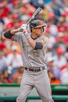 27 May 2013: Baltimore Orioles infielder Manny Machado in action against the Washington Nationals at Nationals Park in Washington, DC. The Orioles defeated the Nationals 6-2, taking the Memorial Day, first game of their interleague series. Mandatory Credit: Ed Wolfstein Photo *** RAW (NEF) Image File Available ***