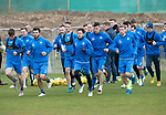 St Johnstone Training&hellip;14.04.17<br />Richie Foster and Danny Swanson lead a run during training at McDiarmid Park this morning ahead of tomorrow&rsquo;s game against Aberdeen.<br />Picture by Graeme Hart.<br />Copyright Perthshire Picture Agency<br />Tel: 01738 623350  Mobile: 07990 594431