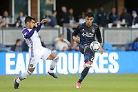 San Jose, CA - Wednesday May 17, 2017: Nick Lima during a Major League Soccer (MLS) match between the San Jose Earthquakes and Orlando City SC at Avaya Stadium.