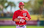 11 March 2013: Washington Nationals outfielder Bryce Harper in action during a Spring Training game against the Atlanta Braves at Space Coast Stadium in Viera, Florida. The Braves defeated the Nationals 7-2 in Grapefruit League play. Mandatory Credit: Ed Wolfstein Photo *** RAW (NEF) Image File Available ***