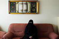 Arhus, Denmark, April, 2010. Aisha, 42, danish, converted to Islam 22 years ago.