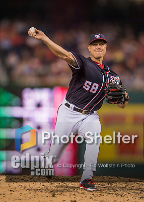 22 July 2016: Washington Nationals pitcher Jonathan Papelbon on the mound against the San Diego Padres at Nationals Park in Washington, DC. The Padres defeated the Nationals 5-3 to take the first game of their 3-game, weekend series. Mandatory Credit: Ed Wolfstein Photo *** RAW (NEF) Image File Available ***