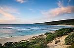 Yallingup beach at dusk in the Leeuwin-Naturaliste National Park, Western Australia, AUSTRALIA.