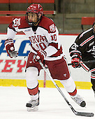 Brayden Jaw (Harvard - 10) - The Harvard University Crimson defeated the visiting Brown University Bears 3-2 on Friday, November 2, 2012, at the Bright Hockey Center in Boston, Massachusetts.