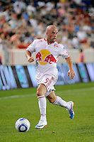 Luke Rodgers (9) of the New York Red Bulls. The New York Red Bulls defeated Toronto FC 5-0 during a Major League Soccer (MLS) match at Red Bull Arena in Harrison, NJ, on July 06, 2011.