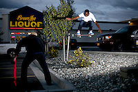 Skateboarder CJ Walker in Anchorage, Alaska. 2010