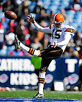 11 October 2009: Cleveland Browns' punter Dave Zastudil warms up prior to a game against the Buffalo Bills at Ralph Wilson Stadium in Orchard Park, New York. The Browns defeated the Bills 6-3 for Cleveland's first win of the season...Mandatory Photo Credit: Ed Wolfstein Photo