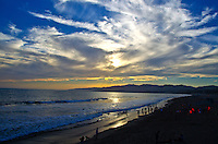 Santa Monica amid the sunset on Tuesday, June 11, 2013.