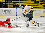 9 February 2008: University of Vermont Catamounts' defenseman Melanie Greene, a Sophomore from Queensbury, NY, in action against the Boston University Terriers at Gutterson Fieldhouse in Burlington, Vermont. The Terriers shut out the Catamounts 2-0 in the Hockey East matchup...Mandatory Photo Credit: Ed Wolfstein Photo