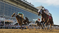 Alternation, ridden by Luis Quinonez wins the Pimlico Special Stakes on Black-Eyed Susan Day at Pimlico Race Course in Baltimore, Maryland on May 18, 2012.