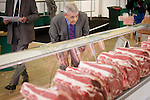 Royal Highland Show 2012. Judge Murray Hardy of Scotbeef looks over rib roast entries at the Highland Show