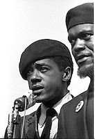 Black Panthers Bobby Seale and William Lee <br />
