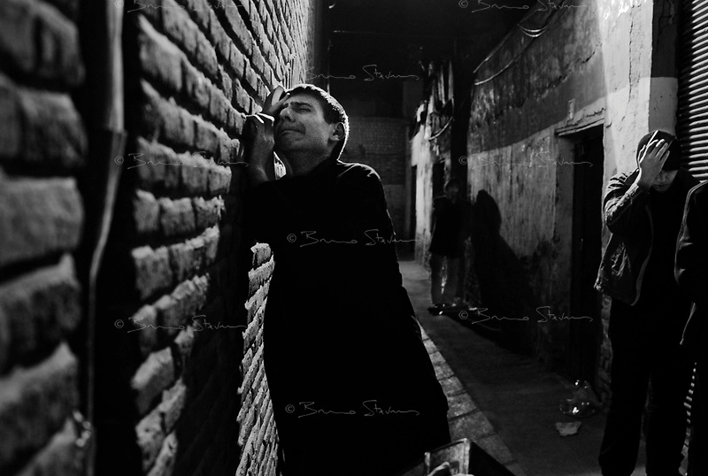 Teheran, Iran, October 4, 2007 .In Masjed Jameh, the oldest mosque in Teheran. Millions of worshippers commemorate the death of Imam Ali, one of the holiest figures for the Shia Muslems, by mourning all night long in and around every single mosque in Iran.