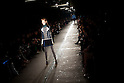 March 23, 2012, Tokyo, Japan - A model poses the catwalk wearing &quot;G.V.G.V.&quot; during Mercedes-Benz Fashion Week Tokyo 2012-13 Autumn/Winter. The Mercedes-Benz Fashion Week Tokyo runs from March 18-24. (Photo by Christopher Jue/AFLO)