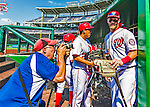 25 July 2013: Washington Nationals outfielder Bryce Harper is photographed by Mark Goldman after Harper hit his first career walk-off home run in the bottom of the 9th inning to break a 7-7 tie and defeat the Pittsburgh Pirates 9-7 at Nationals Park in Washington, DC. The Nationals salvaged the last game of their series to end their 6-game losing streak. Mandatory Credit: Ed Wolfstein Photo *** RAW (NEF) Image File Available ***